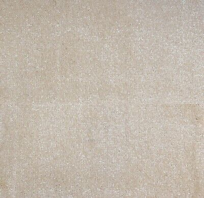 SOFT & DENSE 13mm Thick Cream Action Back Saxony Carpet Remnant/Roll End 5m Wide