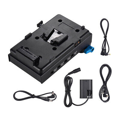 Andoer V-Mount Battery Adapter Plate + Dual Hole Rod Clamp for BMCC Canon Z9D2