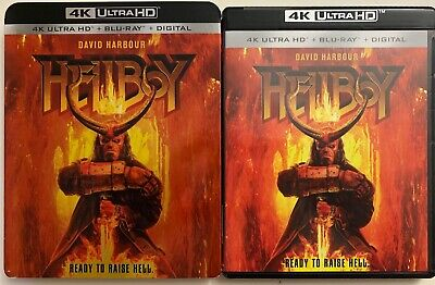Hellboy 2019 4K Ultra Hd Blu Ray 2 Disc Set + Slipcover Sleeve Free Shipping Buy