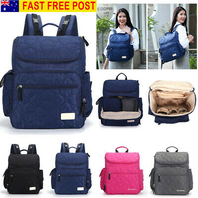 AU Luxury Multifunctional Baby Diaper Nappy Backpack Waterproof Large Mummy Bag
