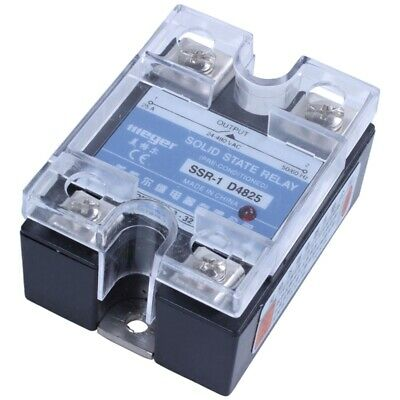 MGR-1 D4825 Single-phase Solid State Relay SSR 25A DC 3-32 V AC 24-480 V E8J8