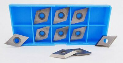 16 x 16 x 3mm Reversible Knives Solid Carbide Replacement Tips Diamond Shape