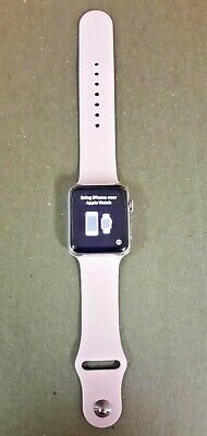 Apple Watch 42mm Stainless Steel Case Rose Sport Band - (MJ3V2LL/A)