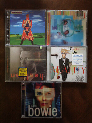 David Bowie 6 CD Lot: Earthling Hours Heathen Reality Best Of Great Condition!