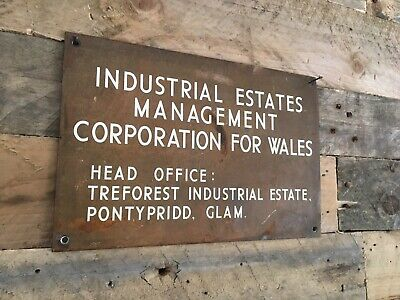 Rare Industrial Estates Management Corporation For Wales Head Office Plaque Sign