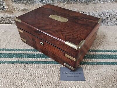 A 19th Century Rosewood Campaign  Document Box