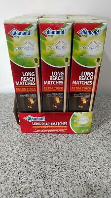 Diamond Long Reach Matches 75 Count per box! Lot of 12! 900 Matches Total! NEW!!