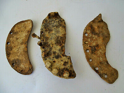 Ancient  ROMAN IRON Artifacts BUFFALO SHOES 3VP