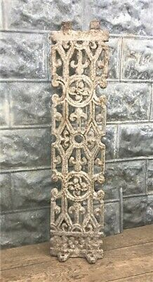 Antique Cast Iron Fence Panel Grate, Window Guard Panel Architectural Salvage c