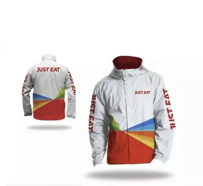 JUST EAT JACKET Large waterproof reflective - NEW Never Worn Or Opened.