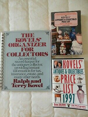 Kovel's Antique Price Guides 1997 & 1982 and Kovel's Organizer For Collectors