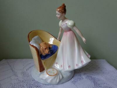 Royal Doulton Bone China Beat You To It HN 2871 Girls Dog On Her Chair Figurine