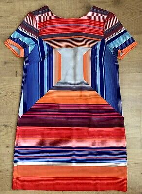 Eci New York Womens Size Medium Multi Color Short Sleeve Knee Length Dress