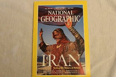 July 1999 National Geographic Magazine Iran, MARS on Earth, Hornbills, Color