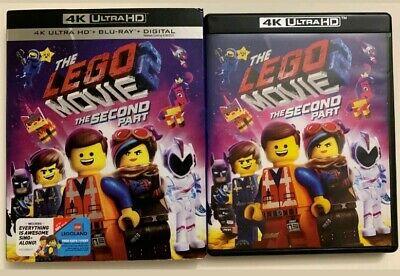 The Lego Movie 2 The Second Part 4K Ultra Hd Blu Ray 2 Disc Set + Slipcover