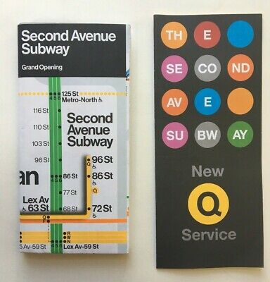 Nyc Subway Map With Second Avenue.New York City Mta Subway Map Second Avenue Grand Opening 5 99