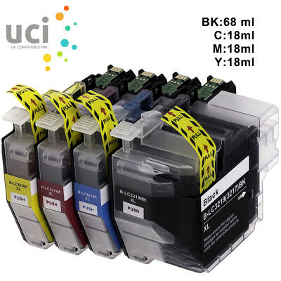LC3219XL PACK OF 4 - Compatible Ink Cartridges fits for Brother