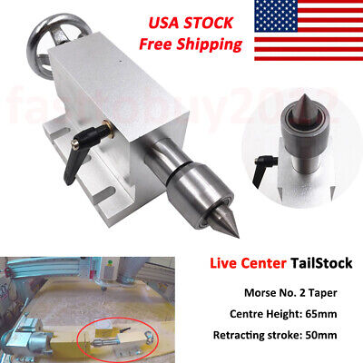 Wood Lathe MT2 Live Center Tailstock Morse Taper 2 For Router 4th Axis Engraver