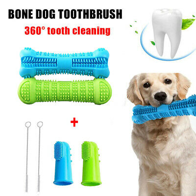 6Pcs Dog Toothbrush Toy Clean Teeth Brushing Stick Pet Brush Mouth Chewing Clean