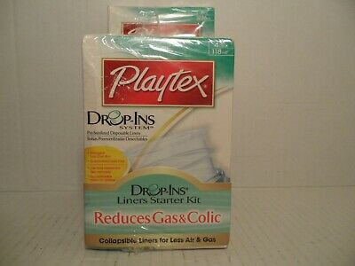 PLAYTEX Drop-Ins System Liners Starter Kit Includes 100 4oz Liners, 50 8oz Liner