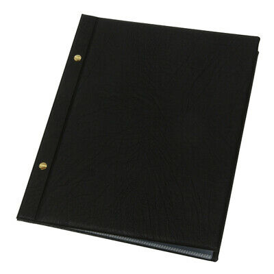 Faux leather BLACK A4 MENU WITH 10 POCKETS