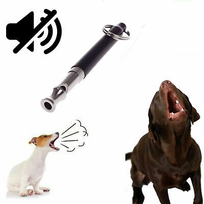 1Pc Pet Dog Puppy Ultrasonic Sound Brass Training Obedience Whistle Pitch Quiet