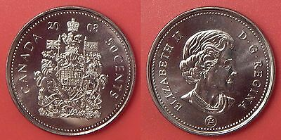 Brilliant Uncirculated 2008 Canada 50 Cents From Mint's Roll