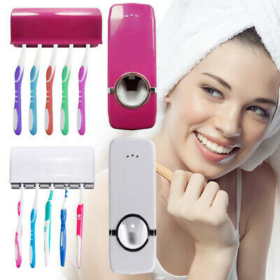 Automatic Toothpaste Squeezer Dispenser & Toothbrush Holder Extrusion Device New