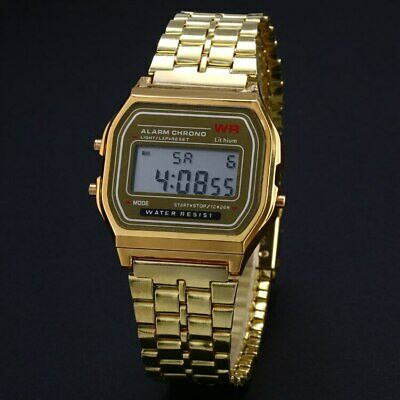 Reloj Hombre Retro  LED Digital reloj alarma cronometro tipo Casio