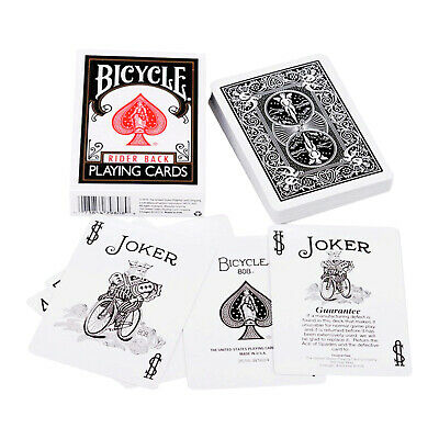 1 Deck Bicycle Fashion Black /& Silver Rider Standard Poker Playing Cards New
