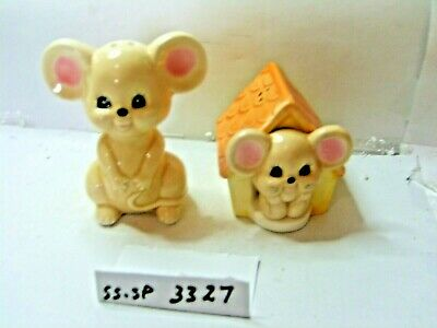 mouse and mouse housesalt and pepper shakers