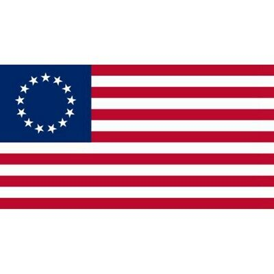 Polyester Us American Betsy Ross 13 Star Usa Historic Flag 4th Of July 3x5 Ft