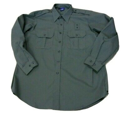 Propper Mens Tactical Military Uniform Work Shirt Button Front Large Green