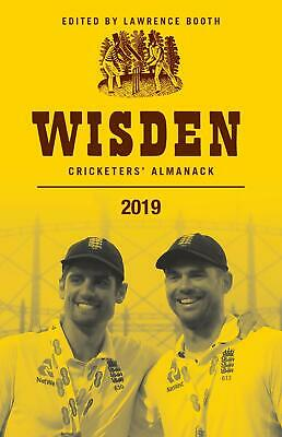 Wisden Cricketers' Almanack 2019 by Lawrence Booth New Hardcover Book