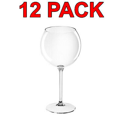 Eco-Friendly Reusable Plastic Tritan Balloon Wine Glass Catering 650ml 12Pc
