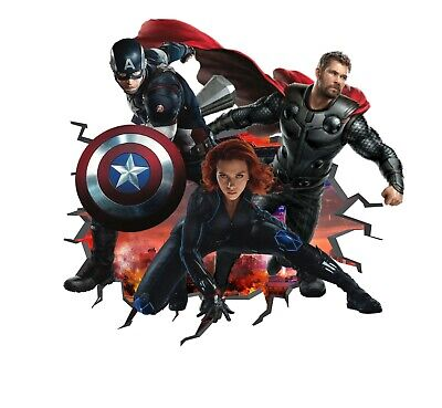 Avengers Wall Decal 3D Art Stickers Vinyl Room Bedroom Mural Kids Nursery Gift 1