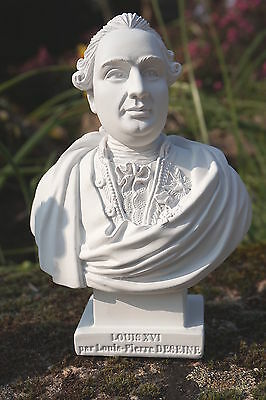 Re0083  Figurine Statuette Reproduction  Buste  De Louis Xvi  Style Albatre