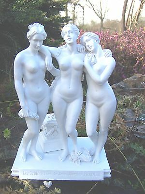 RE0172  FIGURINE  GM 19cm STATUETTE REPRODUCTION 3 TROIS  GRACES STYLE CHARITES