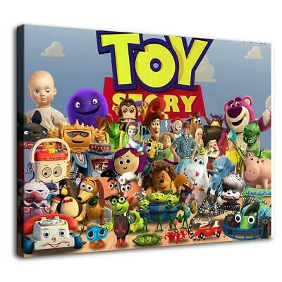 Toy Story Characters HD Canvas prints Home Decor Wall art picture 12X18inch