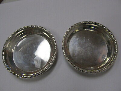 "Webster Silver Co Sterling Silver 2 Candy / Nut Dishes / Pats 2 5/8"" W Xlnt Cond"