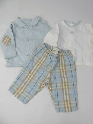 Burberry Baby Boys Outfit & T Shirt Set Age 6 Months