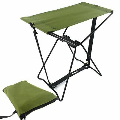 Ultra Strong Folding Pocket Chair Outdoor Camping Fishing Fold Up Stool With Bag