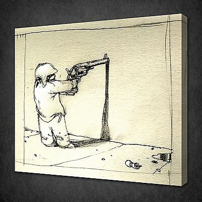 BANKSY SELF PORTRAIT CANVAS WALL ART PICTURES PRINT VARIETY OF SIZES FREE UK P/&P