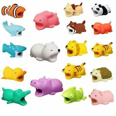 Cute Phone Charger Protector Cord Ruber Animal Cable USB Wire Cover for iPhone