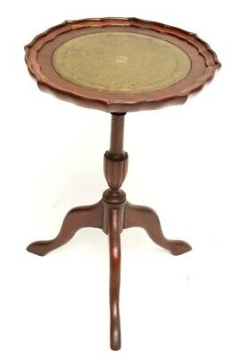 Vintage Georgian Style Mahogany Pedestal Wine Table - FREE Shipping [5407]