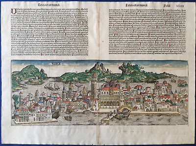 City view VENICE, Nuremberg Chronicle 1493 - Liber chronicarum, Schedel, colored