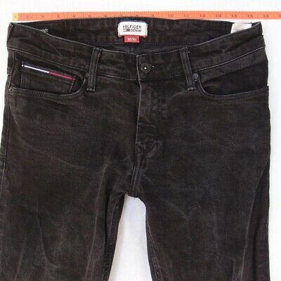 Mens Tommy Hilfiger SIDNEY Stretch Skinny Grey Black Jeans W31 L30