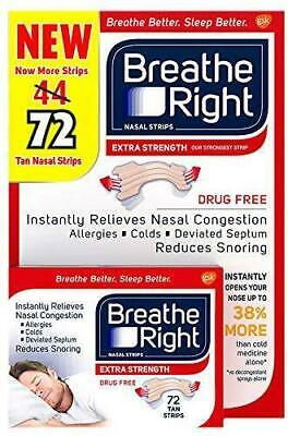 Breathe Right Extra 72 Tan Nasal Strips Stop Snoring ,Sleep,  Fast Freepost