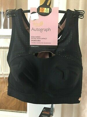 Bnwt M&S Rosie @ Autograph Non Wired Extra High Impact Sports Bra 32B - 36D