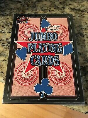 Super Jumbo Plastic Coated Playing Cards NEW 5 X 7